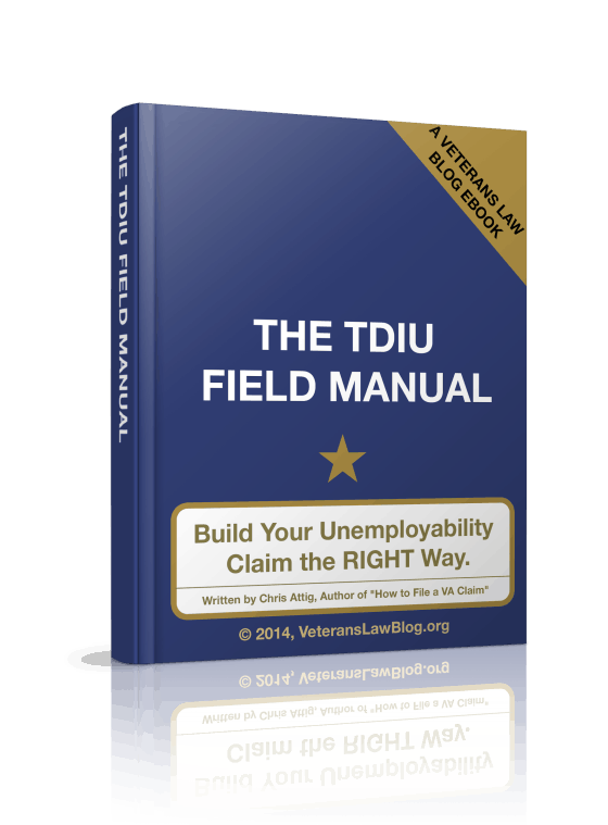 VA TDIU Claim field manual
