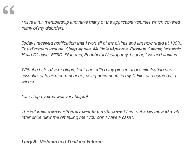 Testimonials - Veterans Law Blog