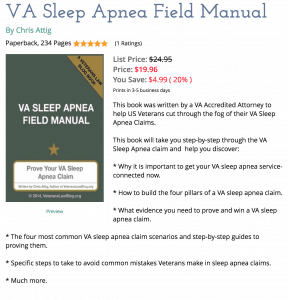 VA Sleep Apnea Field Manual Paperback