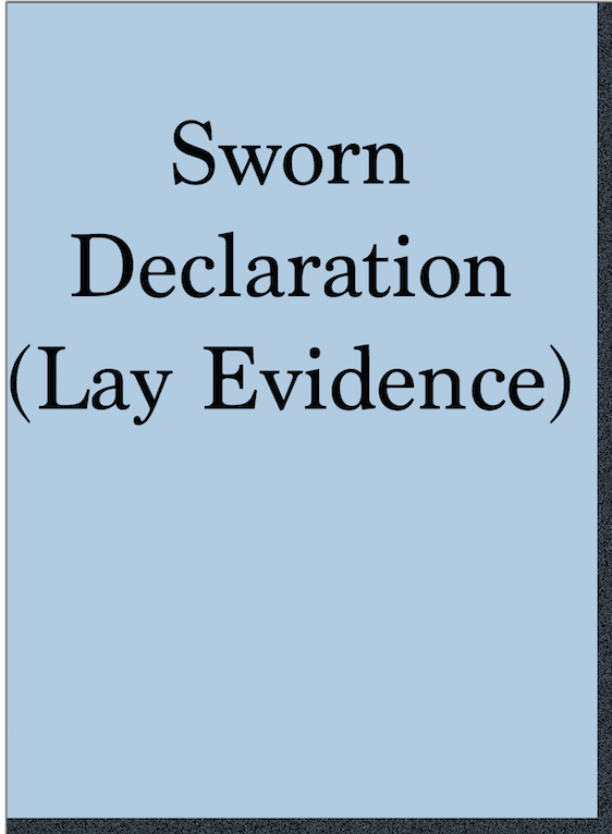 VA Form 21-4138 sworn declaration