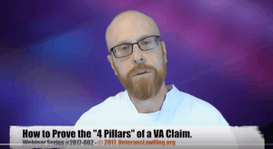 VA 4 Pillars Service Connection Claim Veterans Law Blog webinar