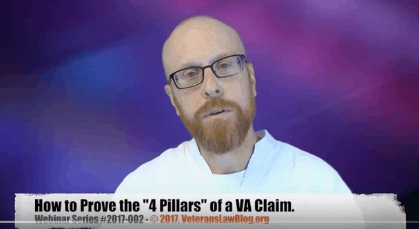 VA 4 Pillars Service Connection Claim Veterans Law Blog webinar
