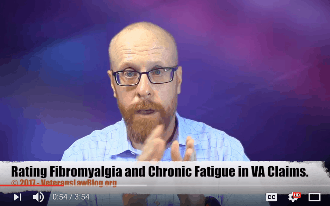 VIDEO: Proving Nexus in VA Claims for Chronic Fatigue and Fibromyalgia