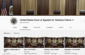 us court of appeals for veterans claims youtube channel